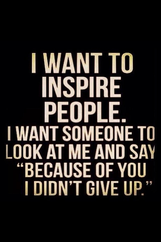 why someone inspires you