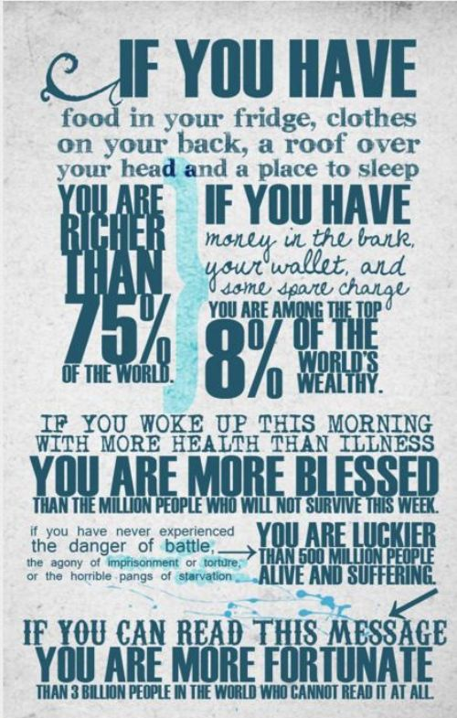 you are fortunate