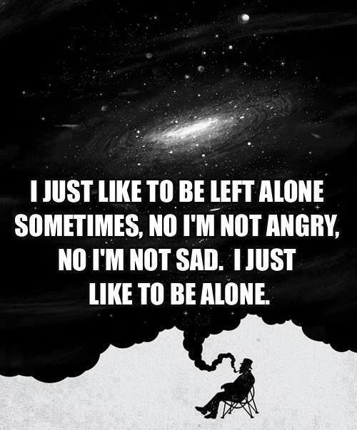Sometimes I Like To Be Alone Challenge Inspire Motivate
